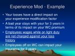 experience mod example
