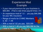 experience mod example2