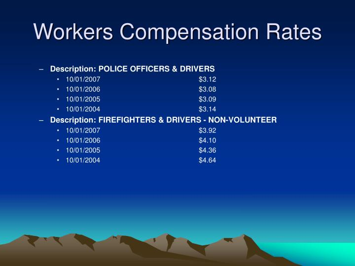 Workers Compensation Rates
