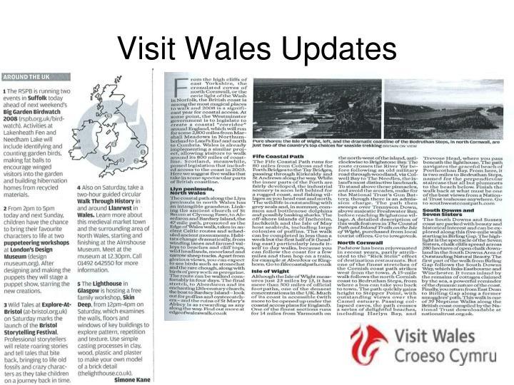 Visit Wales Updates