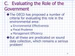 c evaluating the role of the government