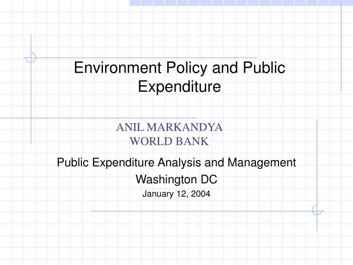 environment policy and public expenditure