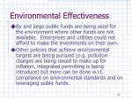 environmental effectiveness1