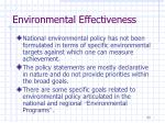 environmental effectiveness2