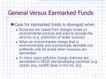 general versus earmarked funds