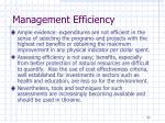 management efficiency1