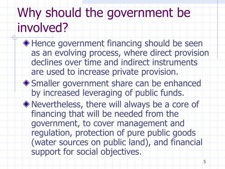 Why should the government be involved?