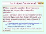 les coles du secteur social