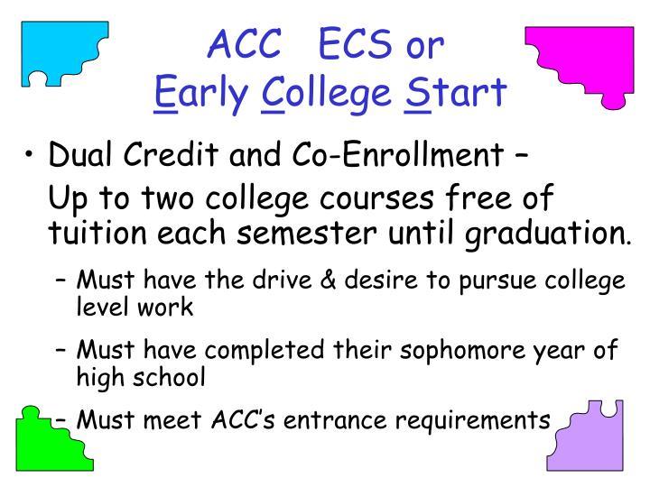 ACC   ECS or