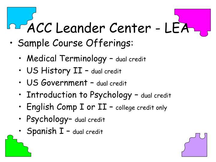 ACC Leander Center - LEA