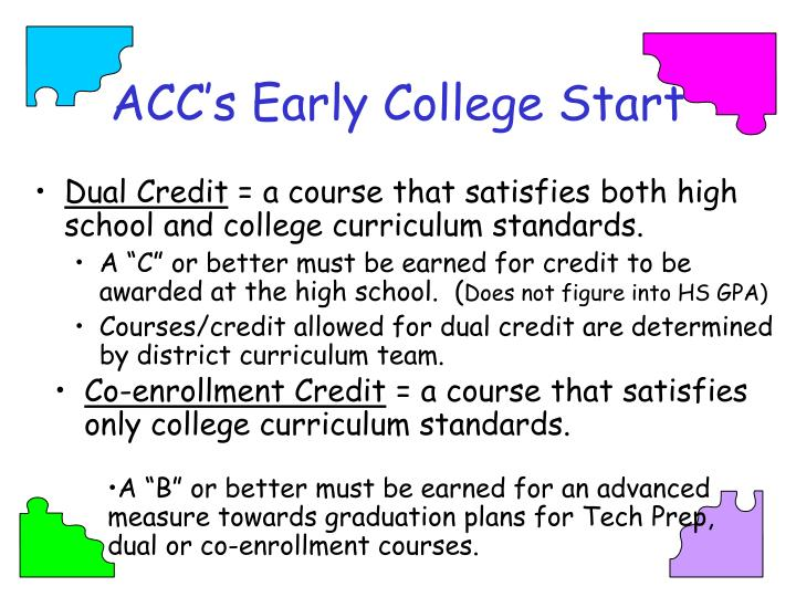 ACC's Early College Start