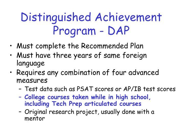 Distinguished Achievement Program - DAP