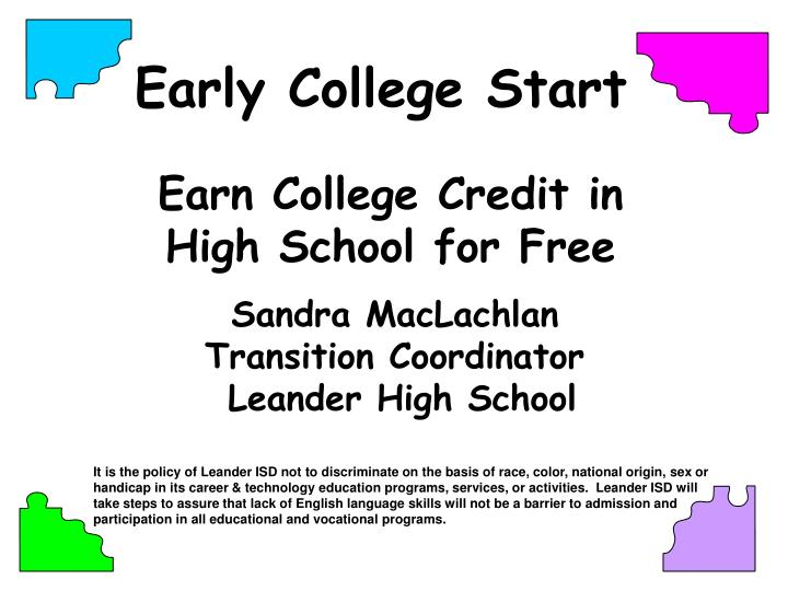 Earn College Credit in