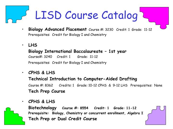 LISD Course Catalog
