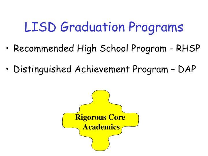 LISD Graduation Programs
