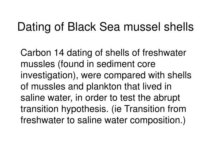 Dating of Black Sea mussel shells