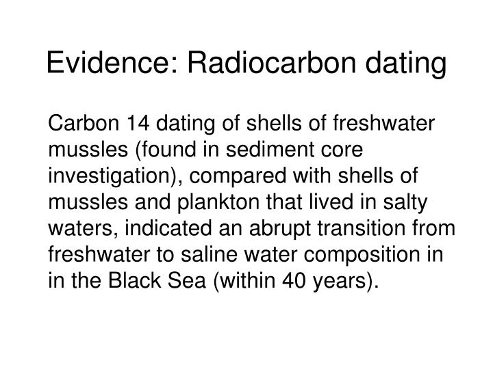 Evidence: Radiocarbon dating