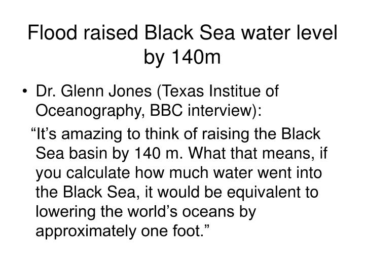 Flood raised Black Sea water level by 140m