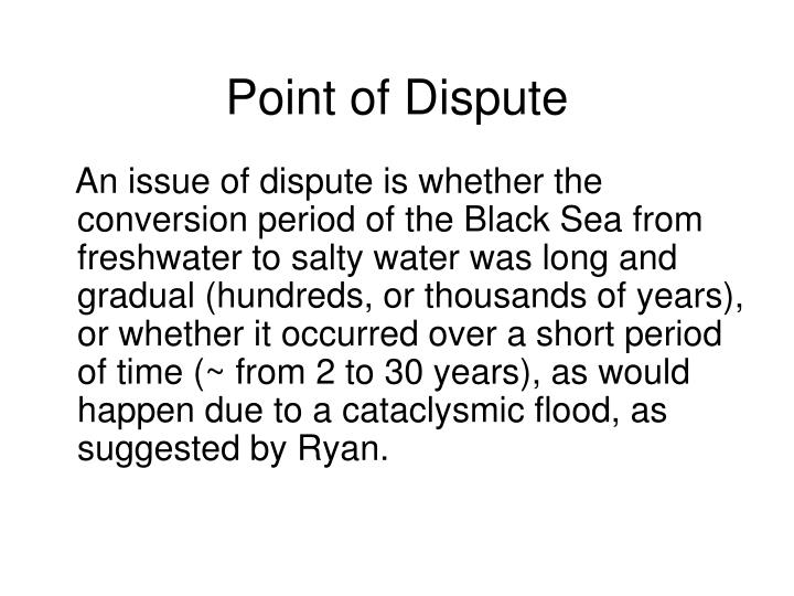 Point of Dispute