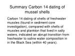 summary carbon 14 dating of mussel shells