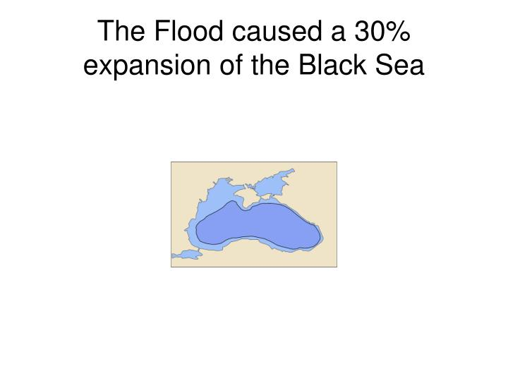 The Flood caused a 30% expansion of the Black Sea