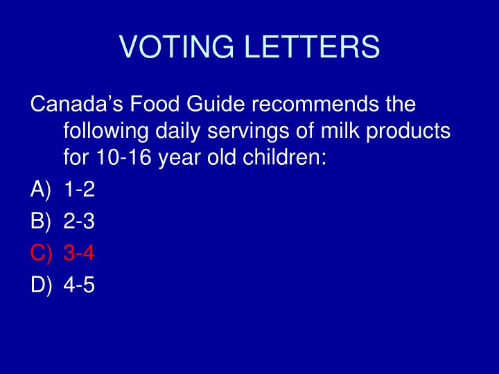VOTING LETTERS