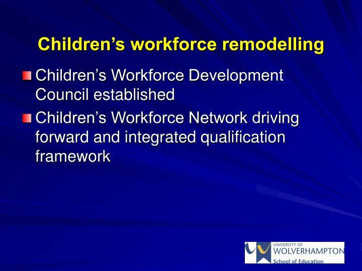 Children's workforce remodelling