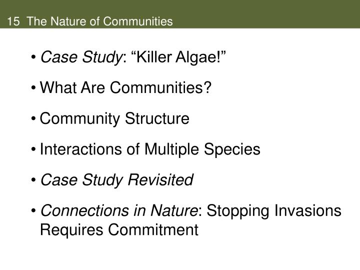 15 the nature of communities