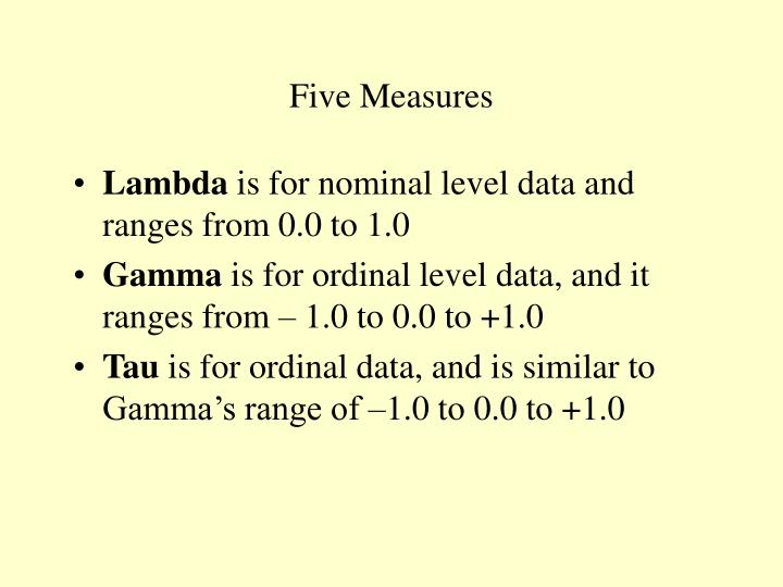 Five Measures