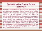 necessidades educacionais especias