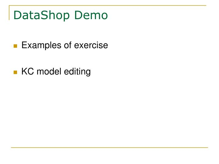 DataShop Demo