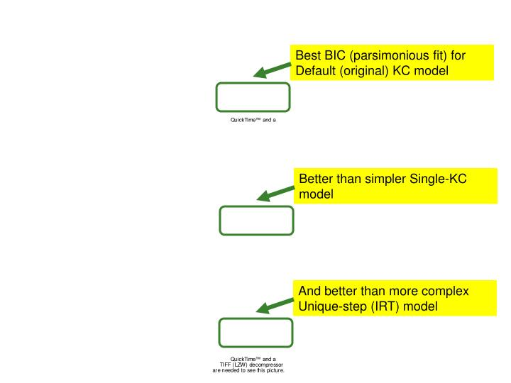 Better than simpler Single-KC model