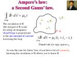 ampere s law a second gauss law