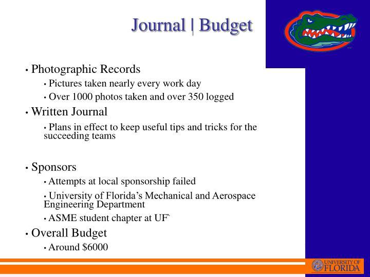 Journal | Budget