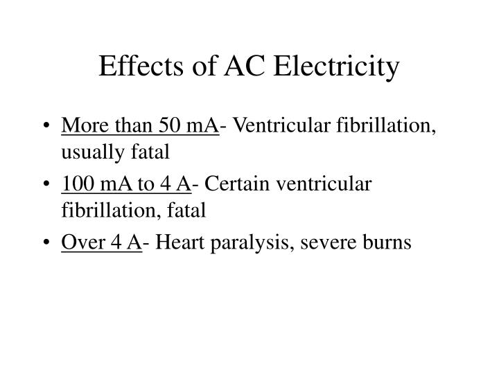 Effects of AC Electricity