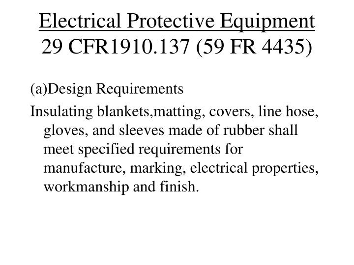 Electrical Protective Equipment