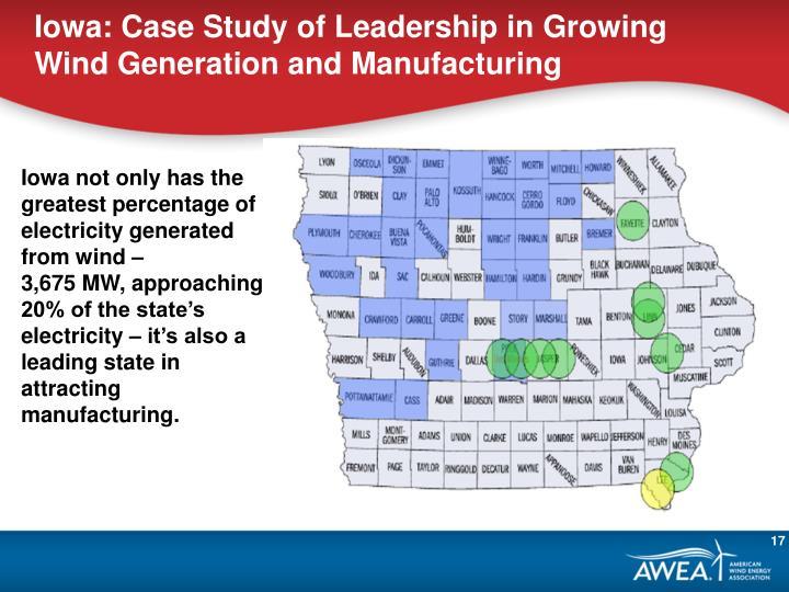 Iowa: Case Study of Leadership in