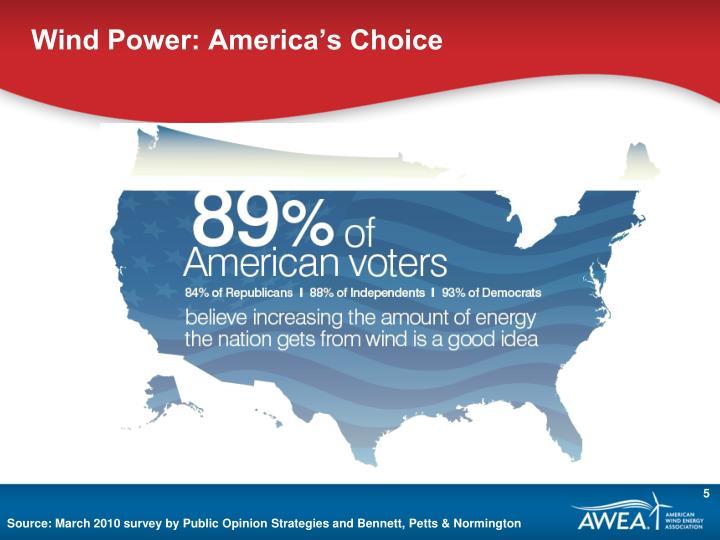 Wind Power: America's Choice