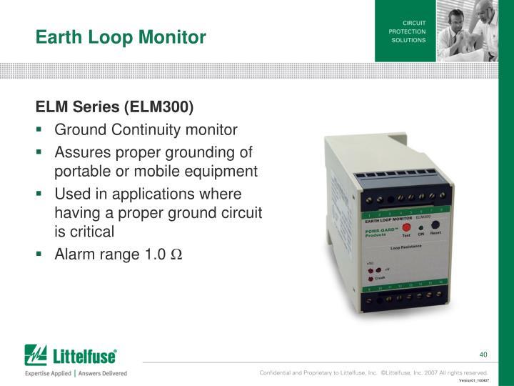 Earth Loop Monitor
