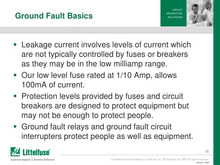 Ground Fault Basics