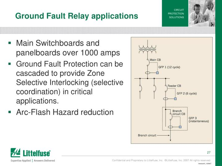 Ground Fault Relay applications
