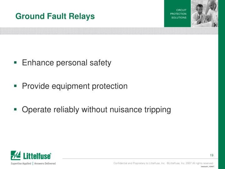 Ground Fault Relays