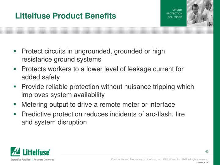 Littelfuse Product Benefits