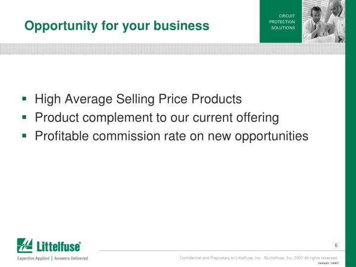 Opportunity for your business
