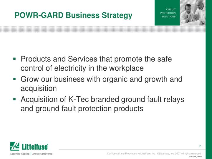 POWR-GARD Business Strategy