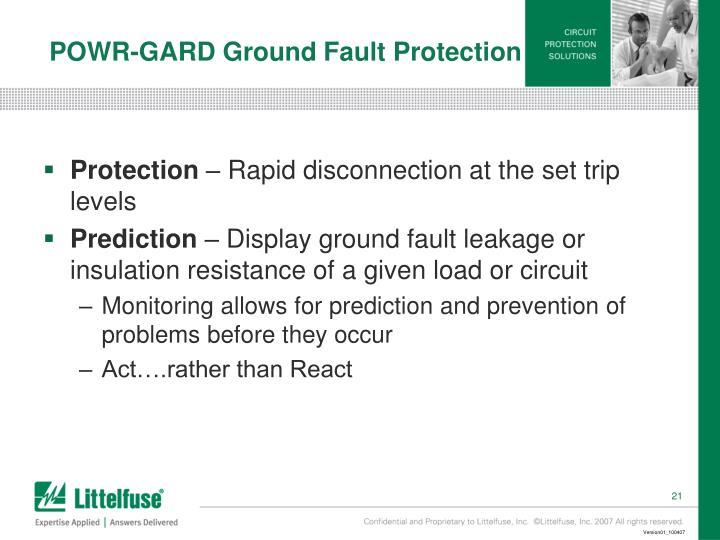 POWR-GARD Ground Fault Protection