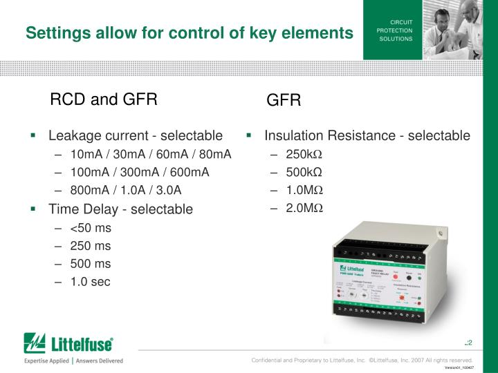 Leakage current - selectable