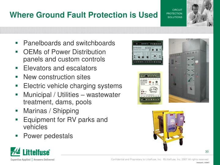 Where Ground Fault Protection is Used