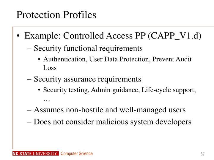 Protection Profiles