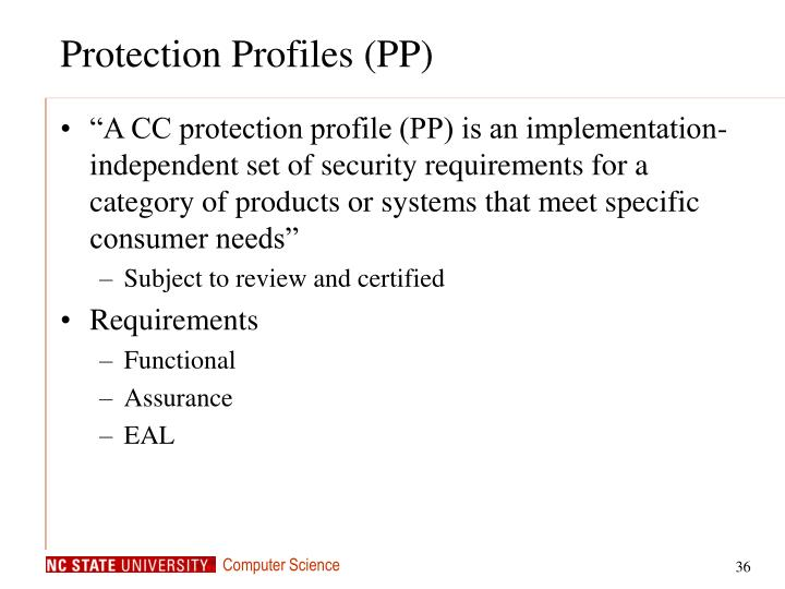 Protection Profiles (PP)